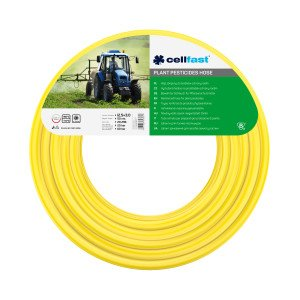 Reinforced hose for plant pesticides 12.5 × 3.0 mm 50 m (164 ft) [yellow]