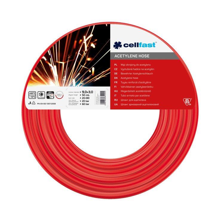 Acetylene hose 9,0 × 3,0 mm 50 m (164 ft)