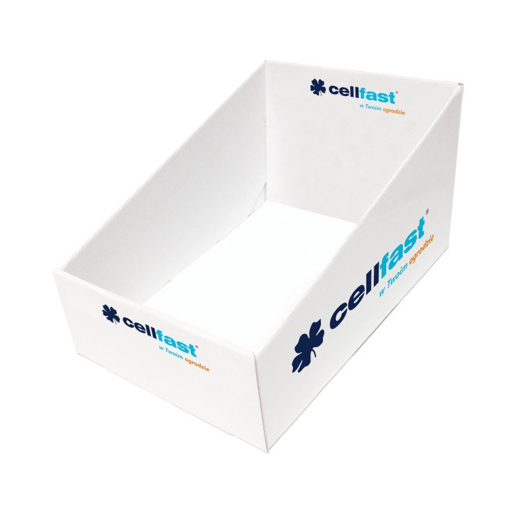 Large cardboard display box for connectors