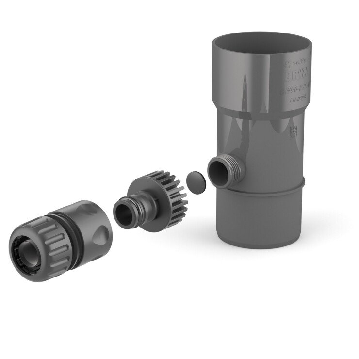 BRYZA PVC Sediment trap 63 mm graphite