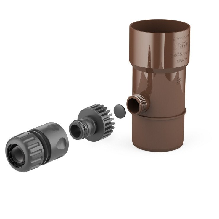 BRYZA PVC Water collector 110 mm brown